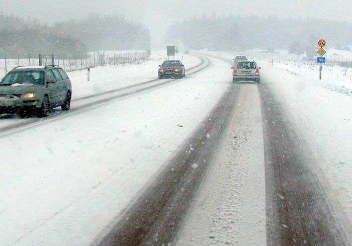 Road, snow.